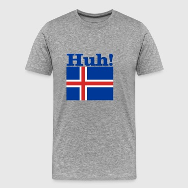 Iceland huh blue - Men's Premium T-Shirt