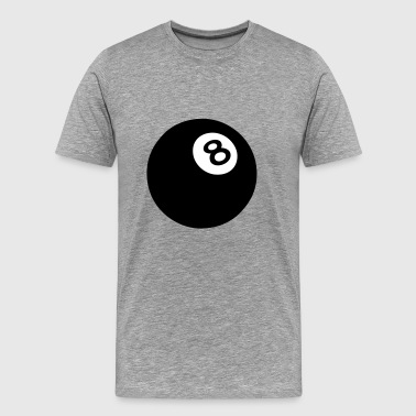 ball 8 black billiard 502 - Men's Premium T-Shirt