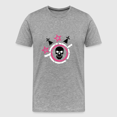 head of death crane logo star hermine bretonne - Men's Premium T-Shirt