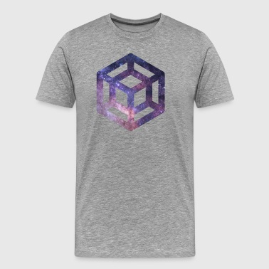 Tesseract galaxy - Men's Premium T-Shirt