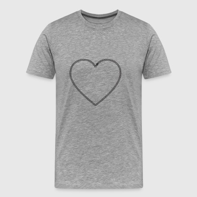 Zip Heart - Men's Premium T-Shirt