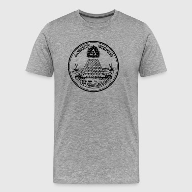 All seeing eye, pyramid, dollar, freemason, god - Men's Premium T-Shirt