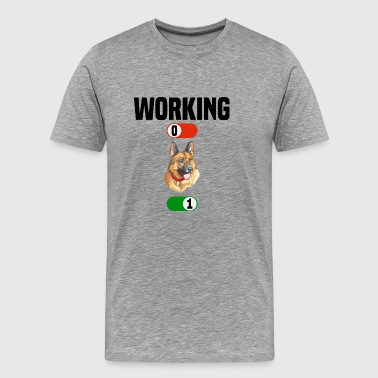 Working job OFF shepherd husky dog ​​ON gift - Men's Premium T-Shirt