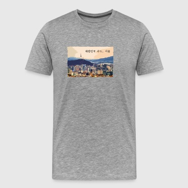 Seoul at Sunset - Mannen Premium T-shirt