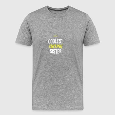 Distressed - COOLEST CYCLING SISTER - Männer Premium T-Shirt