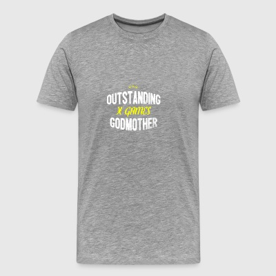 Distressed - OUTSTANDING X GAMES GODMOTHER - Men's Premium T-Shirt
