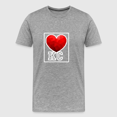 Kansas City Heart - Männer Premium T-Shirt