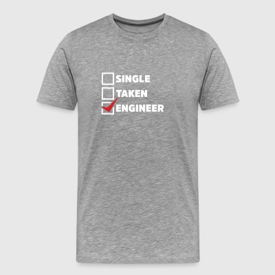 Single Taken Engineer - Männer Premium T-Shirt