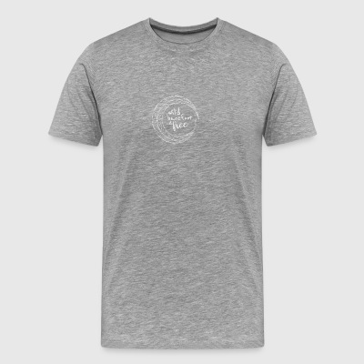 Wild Barefoot And Free White - Men's Premium T-Shirt