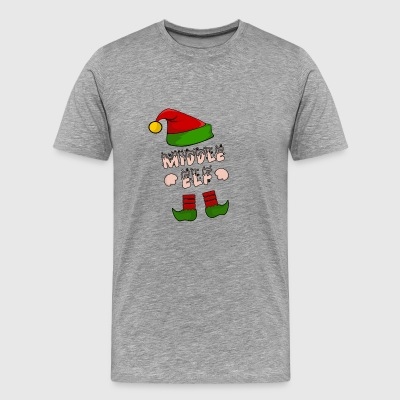 Midden Elf - Elf Medium - Christmas Gift - Mannen Premium T-shirt