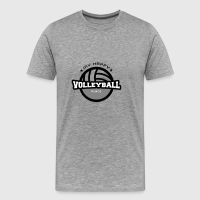 My Happy Place Volleyball T-shirt Gift - Mannen Premium T-shirt