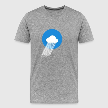 cloud eancode cloud rain nerd data pc computer - Men's Premium T-Shirt