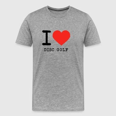 I love Disc golf - Männer Premium T-Shirt
