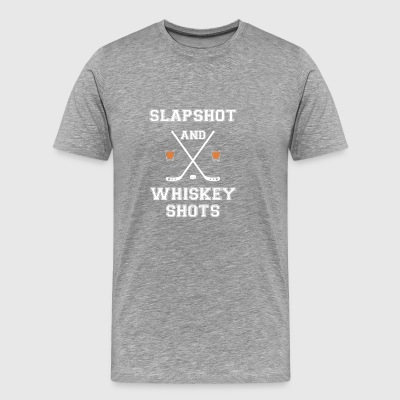 Slapshot and whiskey shots - Men's Premium T-Shirt