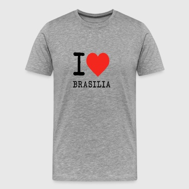I love brasilia - Men's Premium T-Shirt