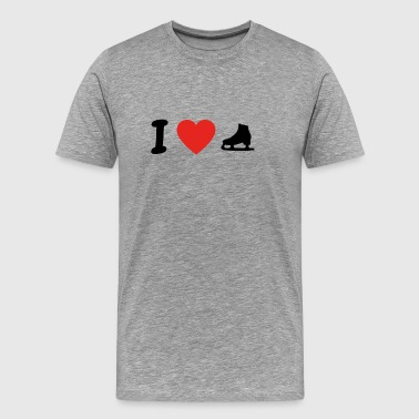 I love ice skating png - Men's Premium T-Shirt