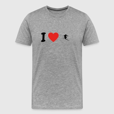 I love skiing. Ski png - Men's Premium T-Shirt