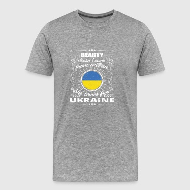 beauty comes from UKRAINE png - Men's Premium T-Shirt