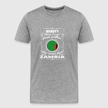 beauty comes from ZAMBIA png - Men's Premium T-Shirt