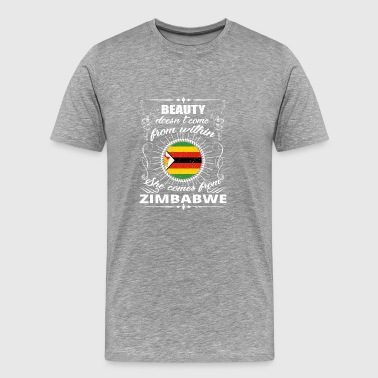 beauty comes from ZIMBABWE png - Men's Premium T-Shirt