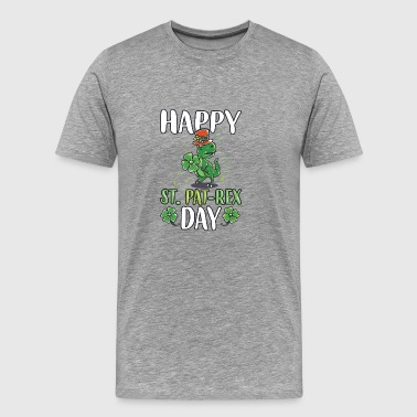 St Patricks day dinosaur T-Rex gift beer - Men's Premium T-Shirt