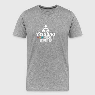 READING - READING RAT - LEES - BOOKWORM - BOEKEN - Mannen Premium T-shirt