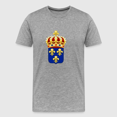New France emblem, arv - Herre premium T-shirt