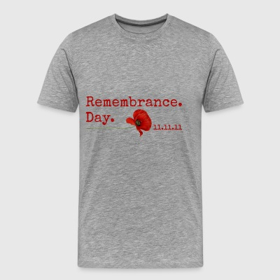 Remembrance Day. 11.11.11. Red Poppy Gifts - Men's Premium T-Shirt