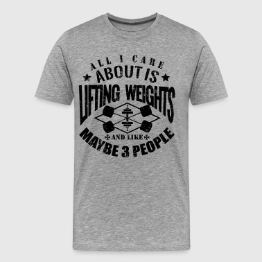 Funny Gym Lifting Weights - Men's Premium T-Shirt