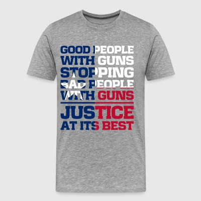 Flag of Texas gun quote - Men's Premium T-Shirt