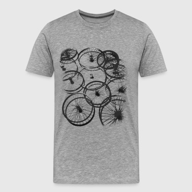 Bicycle tire spokes biker cool design style gr - Men's Premium T-Shirt
