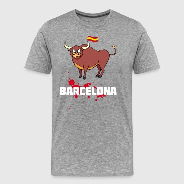 barcelona spain bull liberty blood EU flag LO - Men's Premium T-Shirt