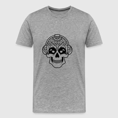 Sugar Skull Mexican music headphone / sugar skull - Men's Premium T-Shirt