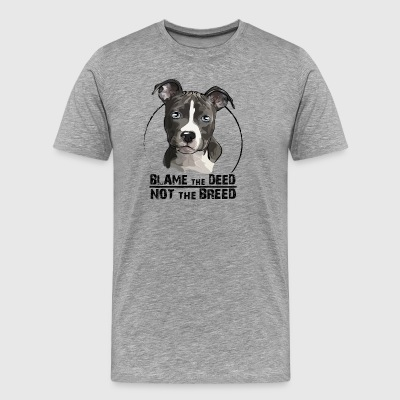 AMERICAN STAFFORDSHIRE TERRIER blame the deed - Männer Premium T-Shirt