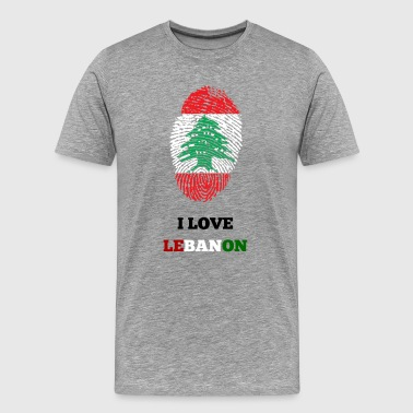 I LOVE LIBANON T-SHIRT FINGERPRINT - Herre premium T-shirt