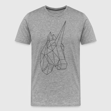 Origami Unicorn / Unicorn darkgrey - Men's Premium T-Shirt