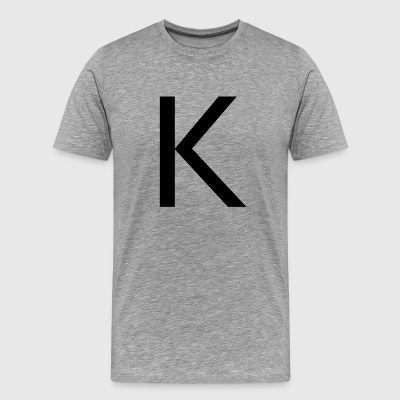 alphabet K - Men's Premium T-Shirt