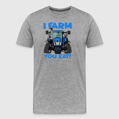 I farm you eat NH - Men's Premium T-Shirt