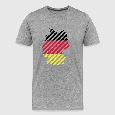 Striped Germany country - Men's Premium T-Shirt