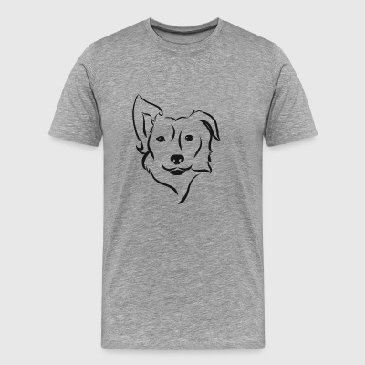 Border Collie Silhouette - Männer Premium T-Shirt