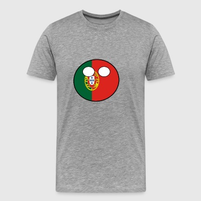 Countryball Land Heimat Portugal - Männer Premium T-Shirt