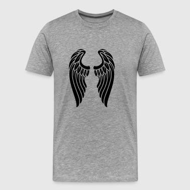 Angels Wings Logo - Premium-T-shirt herr