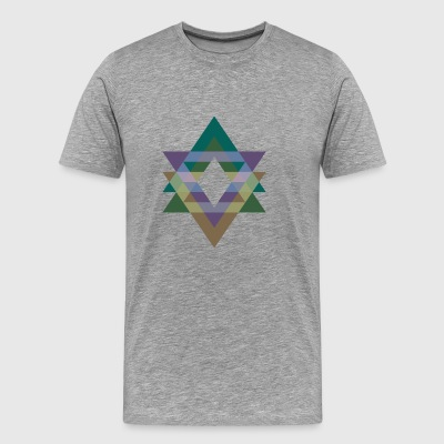 Triangle Graphics violet green - Premium-T-shirt herr