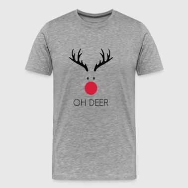 Oh deer Rudolf - Men's Premium T-Shirt