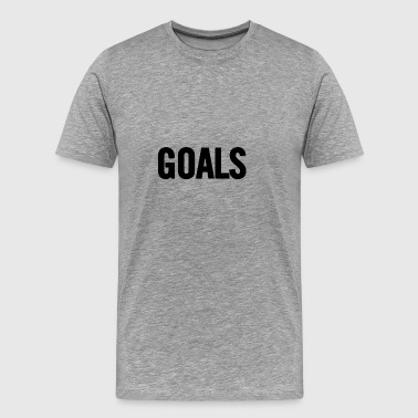 Goals Black - Mannen Premium T-shirt