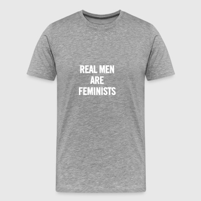 Real Men Are Feminists White - Camiseta premium hombre