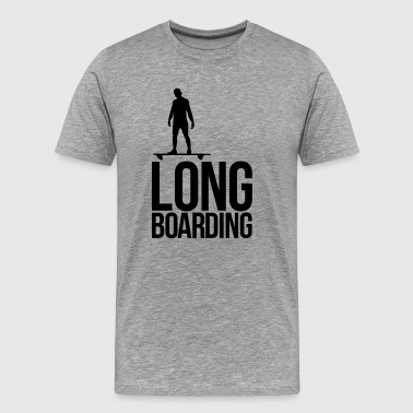 long boarding - Mannen Premium T-shirt