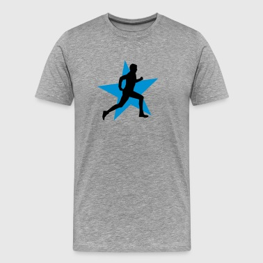 running male ii with star 2c - Men's Premium T-Shirt