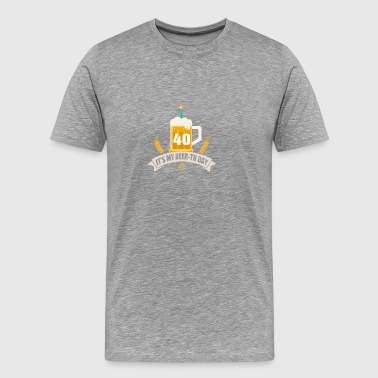 It s My Beer th Day 40 Years Old - Men's Premium T-Shirt