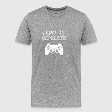 Level 19 Komplett Shirt für Gamer - Männer Premium T-Shirt